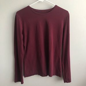 Mossimo Red Long Sleeve Shirt Size L